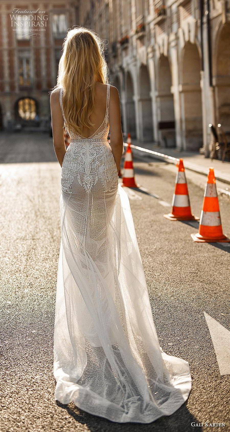 7f69e29ab82f gali karten 2019 bridal sleeveless deep v neck heavily embellished bodice  sexy romantic modified a line