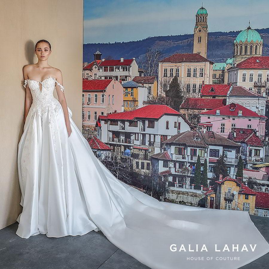 galia lahav fall 2019 bridal off shoulder lace straps sweetheart neckline keyhole embellished bodice ball gown wedding dress romantic elegant cathedral train (aida) mv