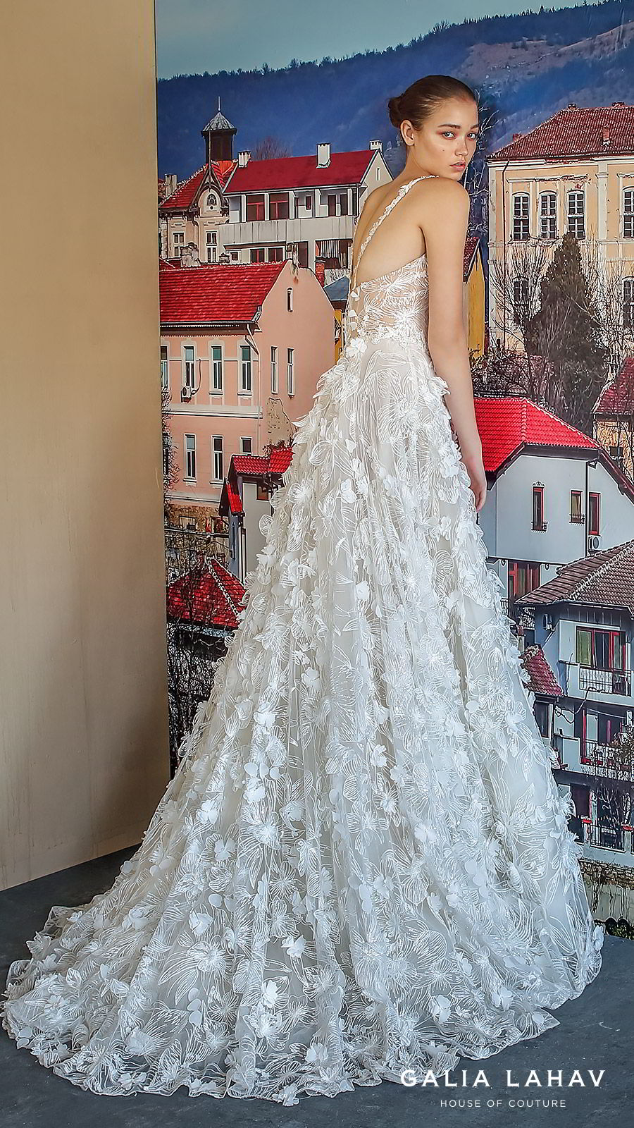 galia lahav fall 2019 bridal sleeveless straps scoop neckline fully embellished lace a line ball gown wedding dress romantic elegant chapel train (fabiana) bv