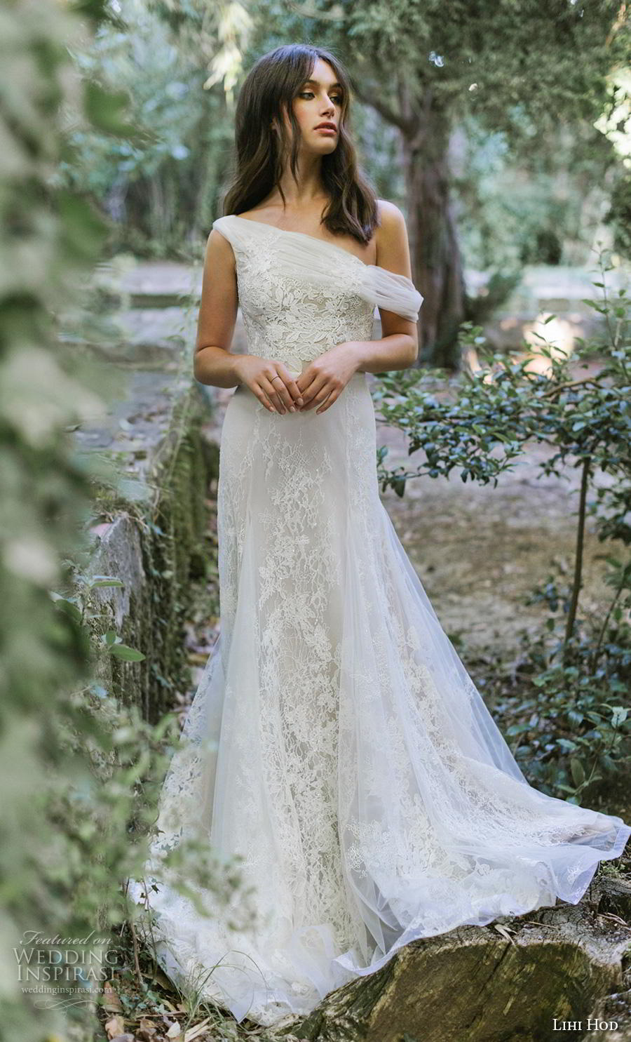 lihi hod 2019 bridal sleeveless one shoulder full embellishment romantic a  line wedding dress covered back chapel train (2) mv
