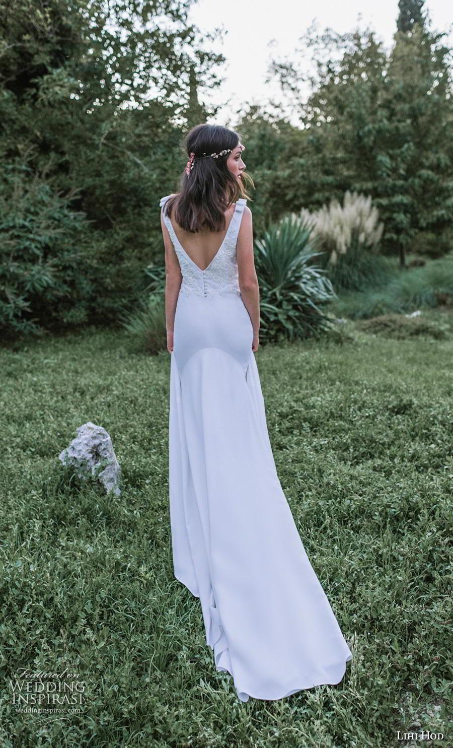 lihi hod 2019 bridal sleeveless v neck heavily embellished bodice elegant trumpet wedding dress backless v back chapel train (8) bv
