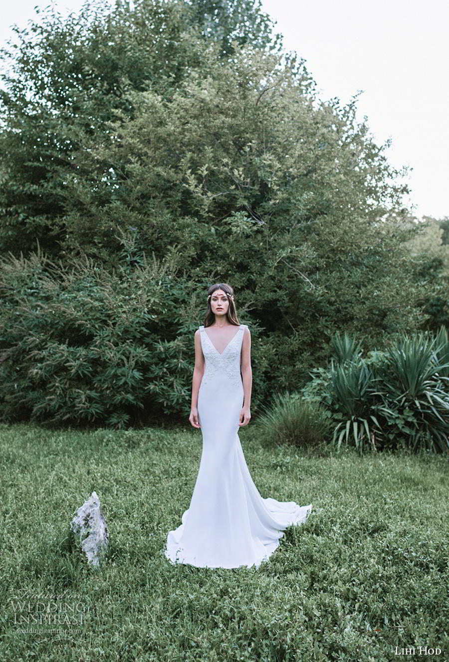 lihi hod 2019 bridal sleeveless v neck heavily embellished bodice elegant trumpet wedding dress backless v back chapel train (8) mv