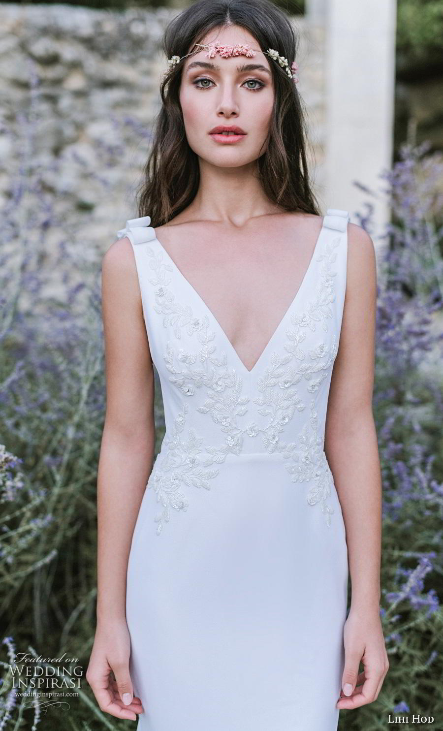 lihi hod 2019 bridal sleeveless v neck heavily embellished bodice elegant trumpet wedding dress backless v back chapel train (8) zv