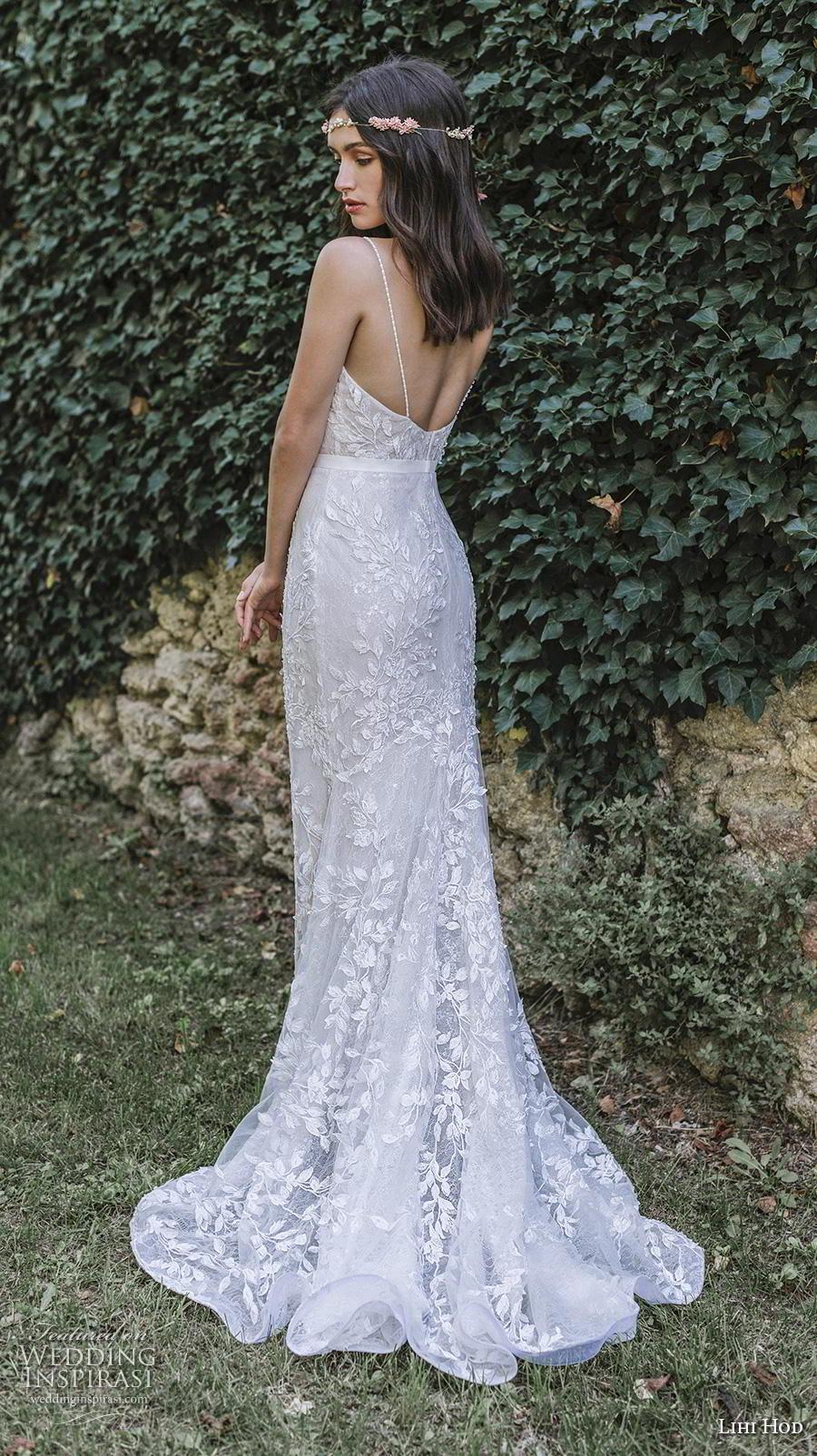 lihi hod 2019 bridal spaghetti strap diamond neckline full embellishment elegant fit and flare sheath wedding dress backless sweep train (4) bv