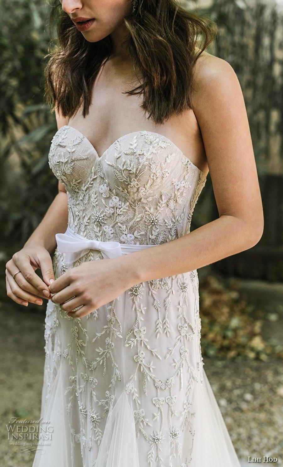 lihi hod 2019 bridal strapless sweetheart neckline full embellishment bustier romantic a  line wedding dress mid back chapel train (5) zv