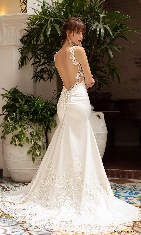 naama anat 2019 bridal sleeveless beaded straps embellished bodice fit flare wedding dress chapel train elegant romantic (1) bv