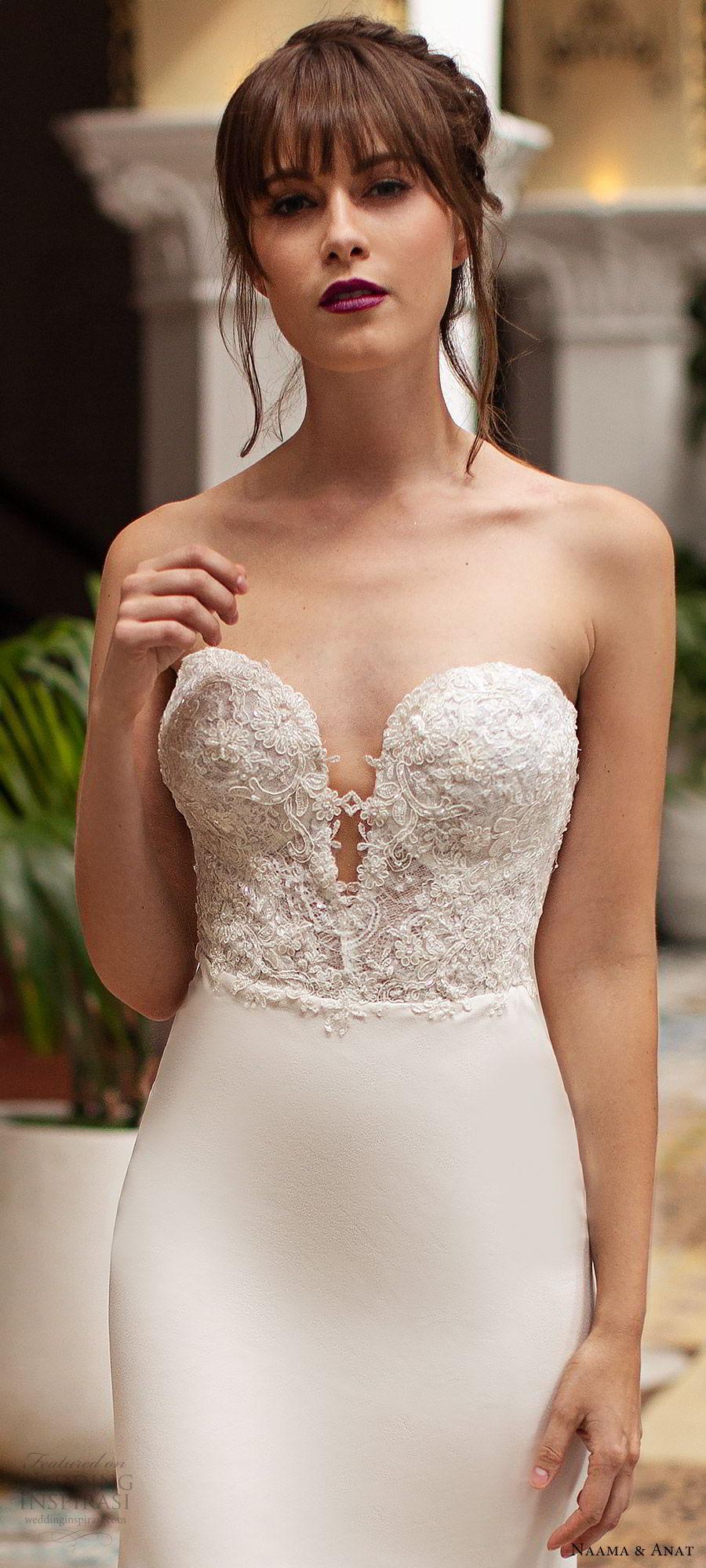 naama anat 2019 bridal strapless sweetheart embellished bodice sheath wedding dress  low back chapel train elegant modern (4) zv