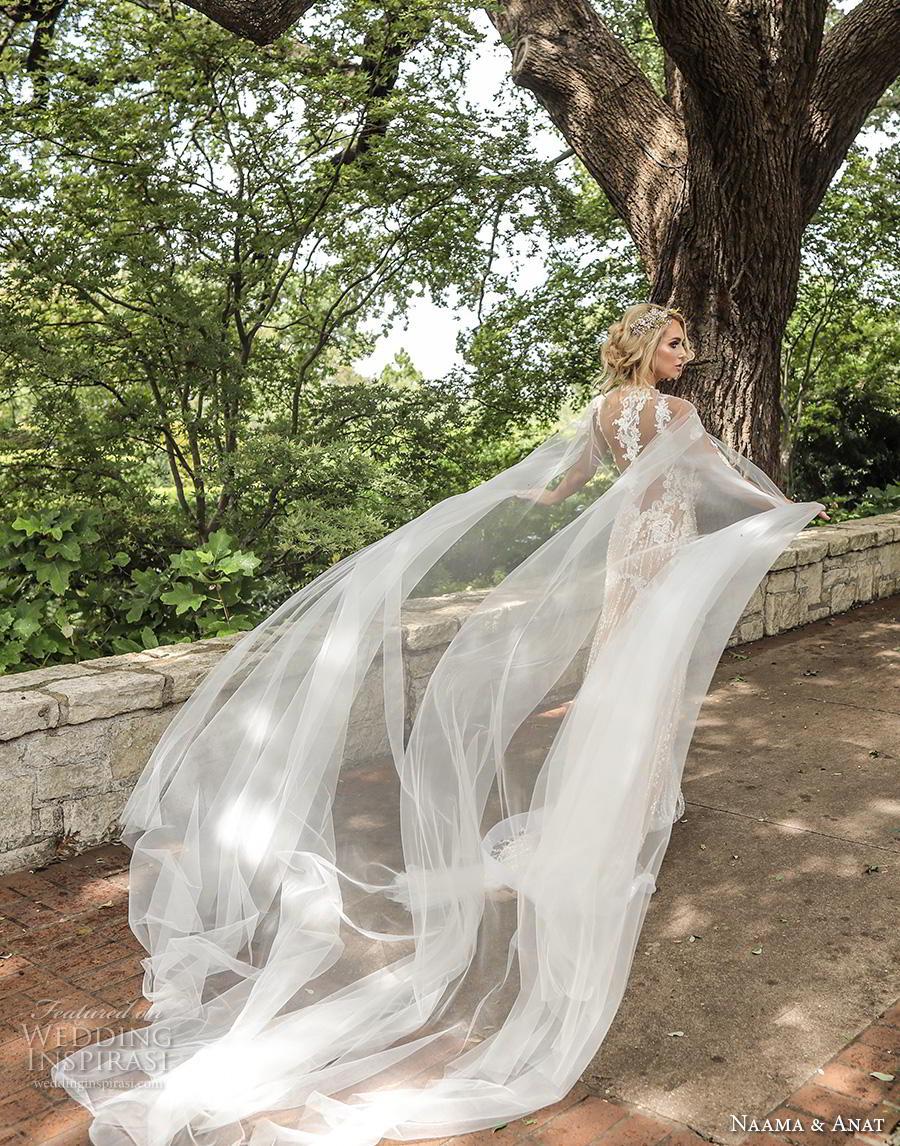 naama anat fall 2019 couture bridal sleeveless thin strap sweetheart neckline full embellishment elegant ivory drop waist a  line wedding dress sheer lace back medium train (4) bv