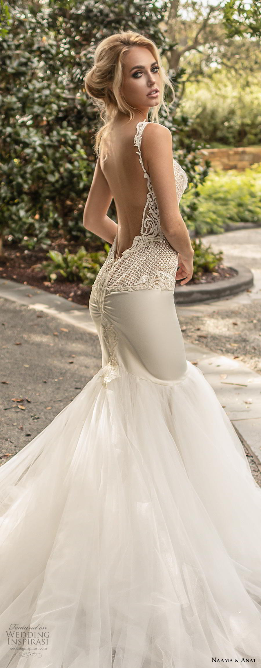 naama anat fall 2019 couture bridal sleeveless with strap sweetheart neckline heavily embellished bodice elegant mermaid wedding dress low open back backless royal train (3) lbv
