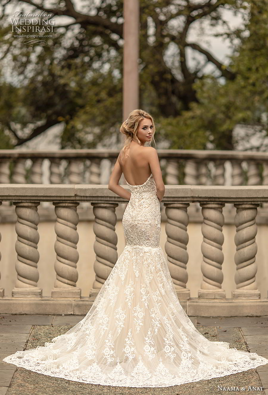 naama anat fall 2019 couture bridal strapless sweetheart neckline full embellishment elegant ivory color mermaid wedding dress backless chapel train (1) bv