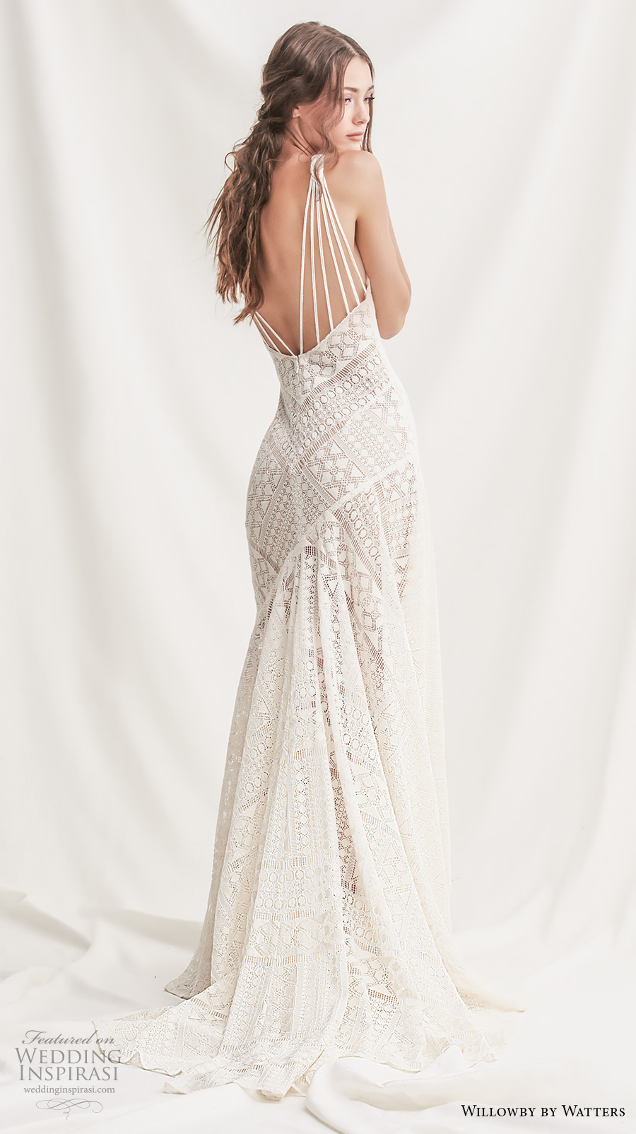 willowby by watters spring 2019 bridal sleeveless halter neck full embellishment elegant modern sheath wedding dress v back sweep train (5) bv