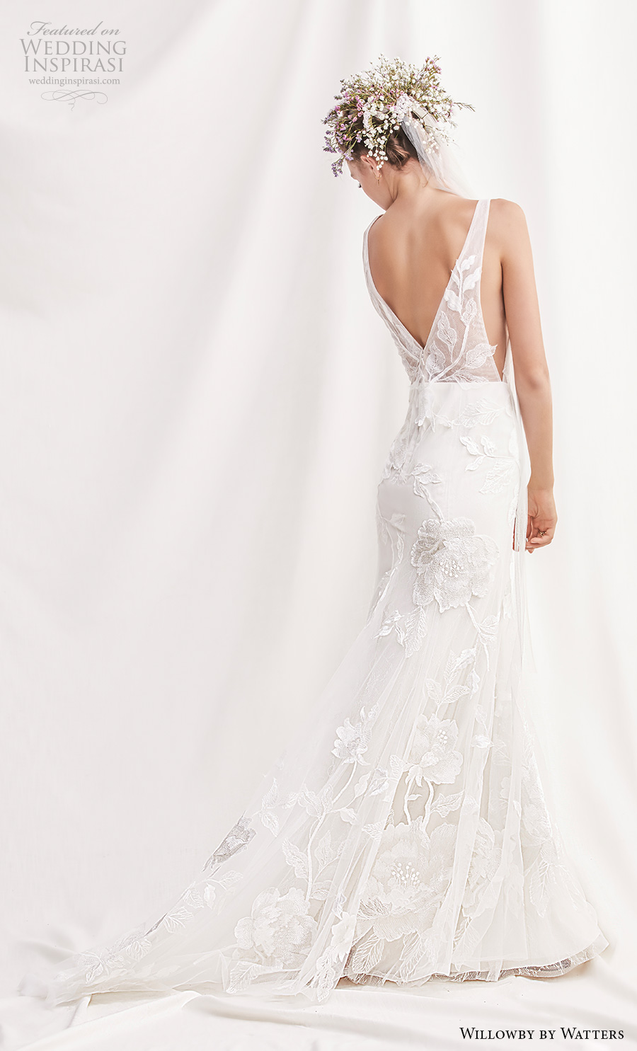 willowby by watters spring 2019 bridal sleeveless v neck full embellishment romantic fit and flare wedding dress v back medium train (9) bv