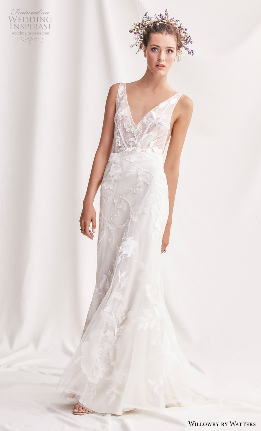 willowby by watters spring 2019 bridal sleeveless v neck full embellishment romantic fit and flare wedding dress v back medium train (9) mv