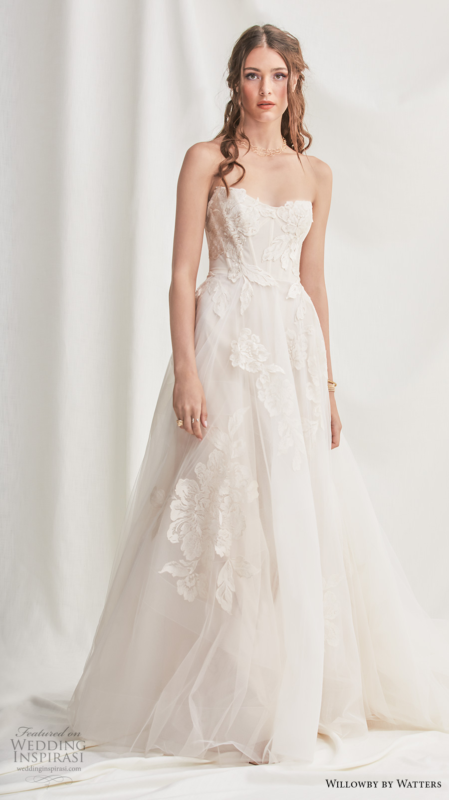 willowby by watters spring 2019 bridal strapless sweetheart neckline heavily embellished bodice corset romantic a  line wedding dress (1) mv