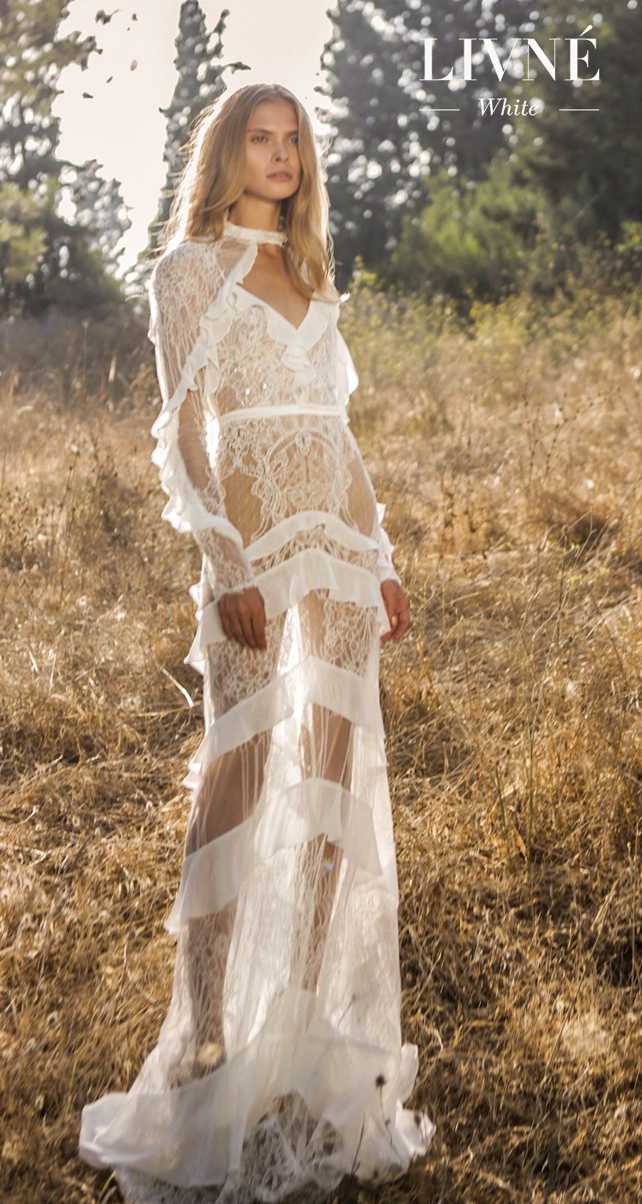 alon livne white fall 2019 bridal long sleeves high neck full embellishment elegant modest vintage sheath modified a  line wedding dress (billie) mv