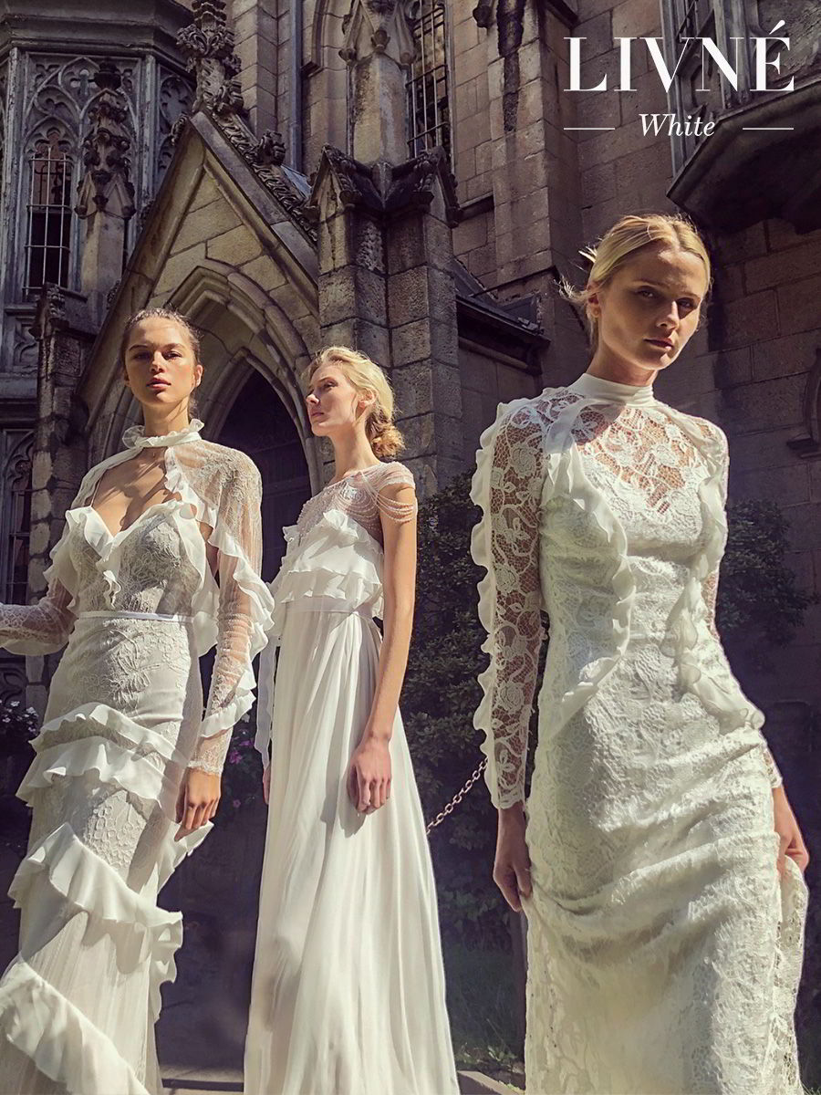 alon livne white fall 2019 bridal vintage inspired elegant wedding dresses gowns and collection from left natasha dianne billie