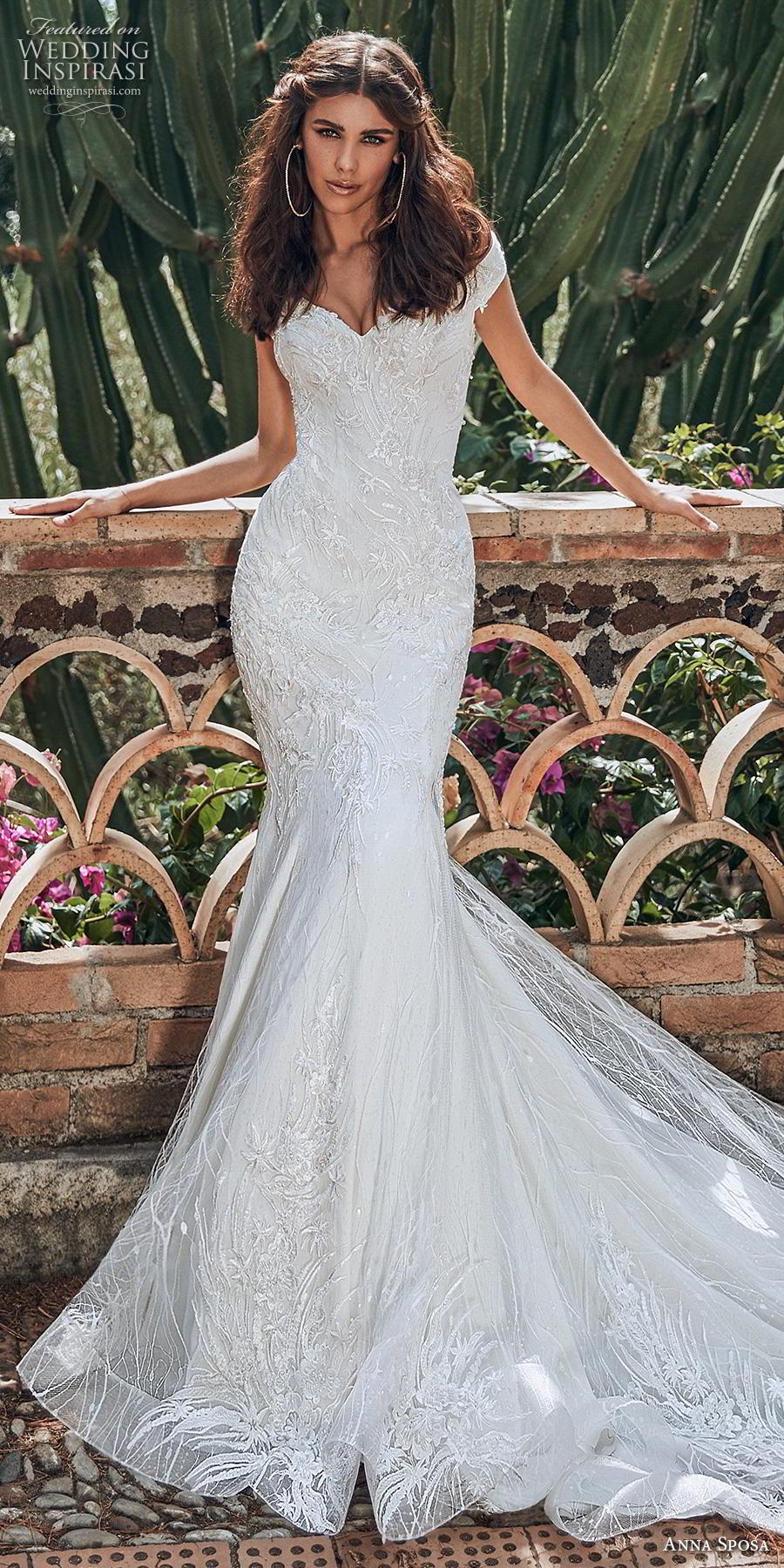 anna sposa 2019 bridal off the shoulder sweetheart neckline full embellishment elegant trumpet mermaid wedding dress chapel train (16) lv