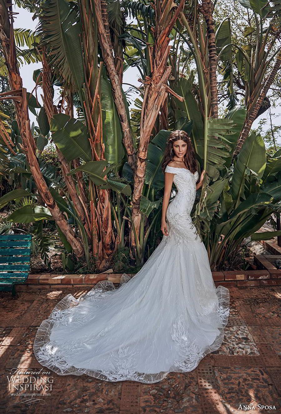 anna sposa 2019 bridal off the shoulder sweetheart neckline full embellishment elegant trumpet mermaid wedding dress chapel train (16) mv