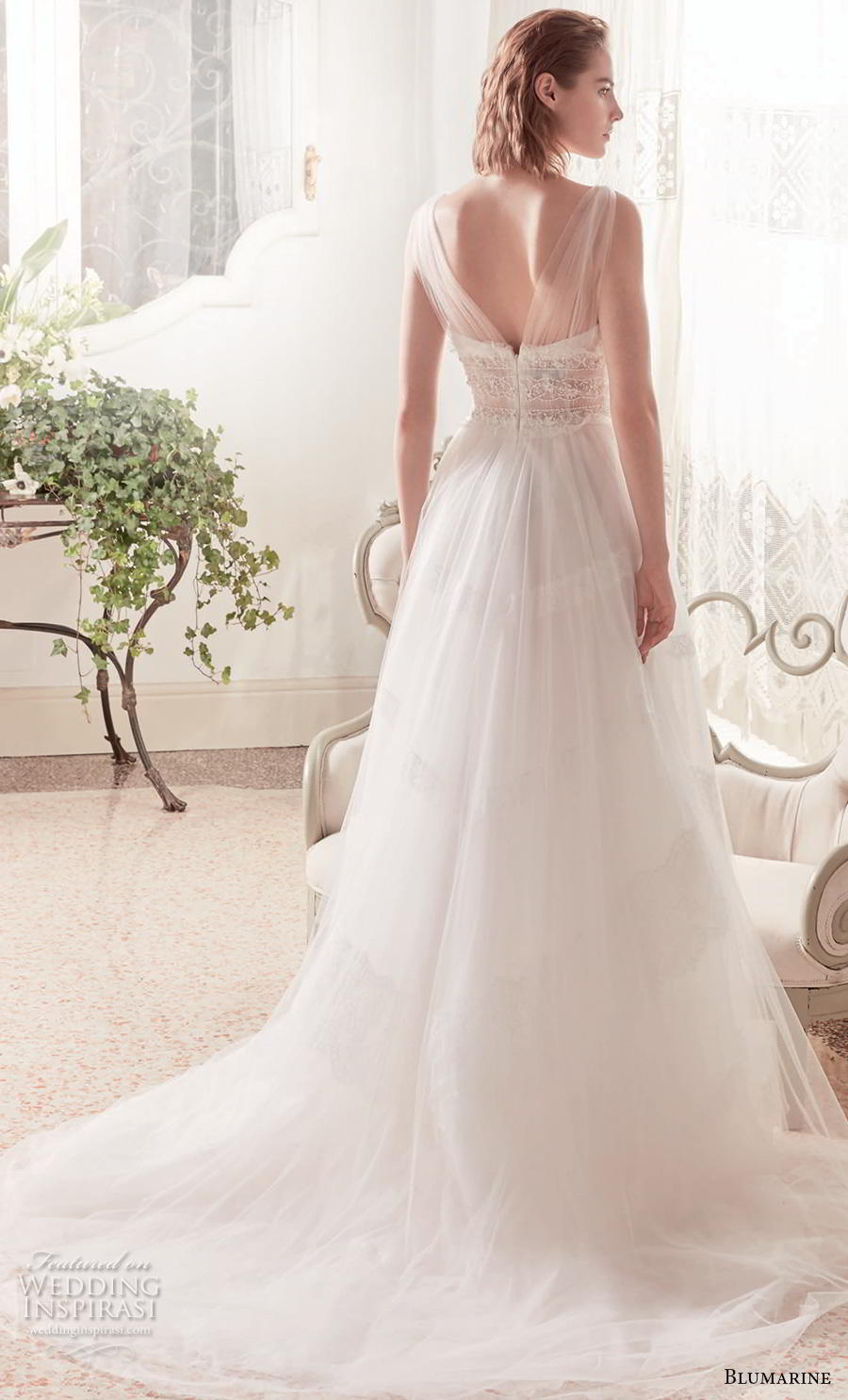 blumarine sposa 2019 bridal sleeveless sheer strap sweetheart neckline lightly embellished bodice romantic a  line wedding dress v back chapel train (21) bv