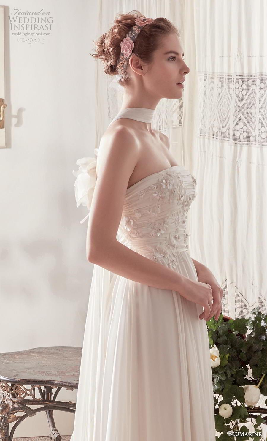 blumarine sposa 2019 bridal strapless straight across neckline heavily embellished bodice romantic a  line wedding dress mid back medium train (5) mv