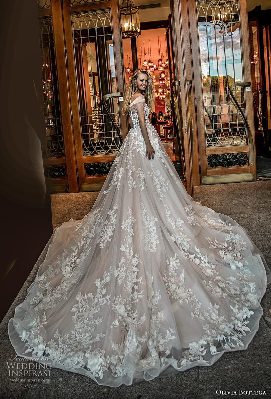 olivia bottega 2019 bridal off the shoulder sheer straight across neckline full embellishment romantic blush ball gown a  line wedding dress royal train (14) bv