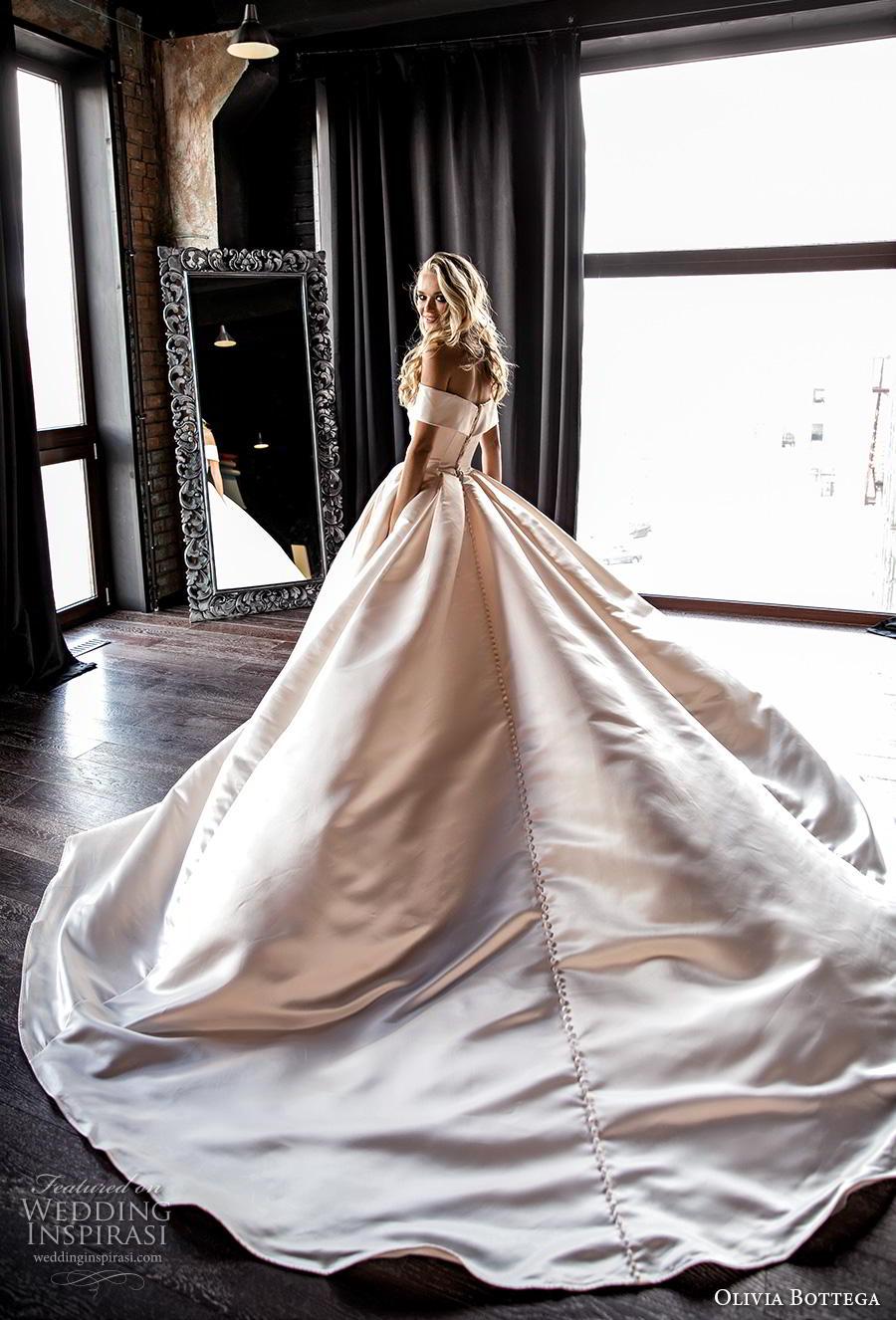 olivia bottega 2019 bridal off the shoulder sweetheart neckline simple romantic princess pink ball gown a  line wedding dress royal train (10) bv mv