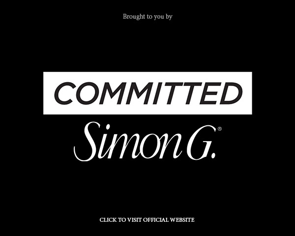 simon g jewelry committed engagement ring campaign featured on wedding inspirasi below banner