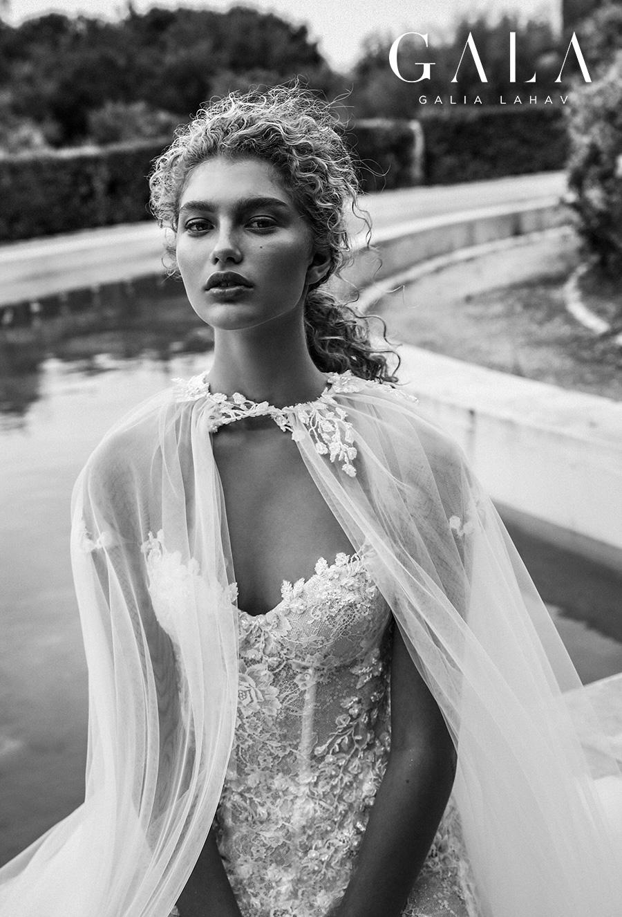 galia lahav gala fall 2019 bridal sheer short sleeves illusion jewel sweetheart neckline full embellishment elegant princess romantic a  line wedding dress chapel train (203) zv