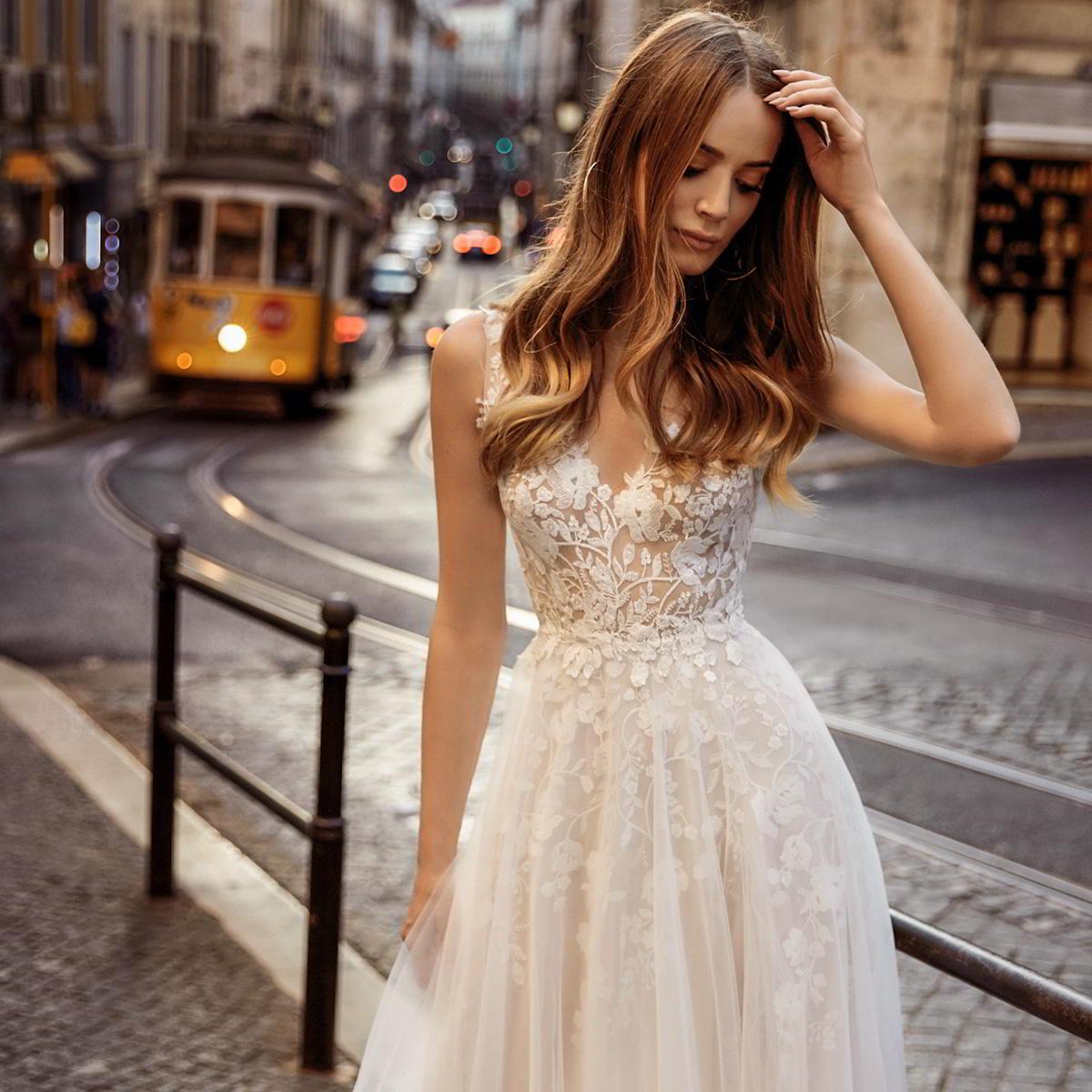 The Bridal Collection Real Bride: Tom Sebastien 2019 Wedding Dresses