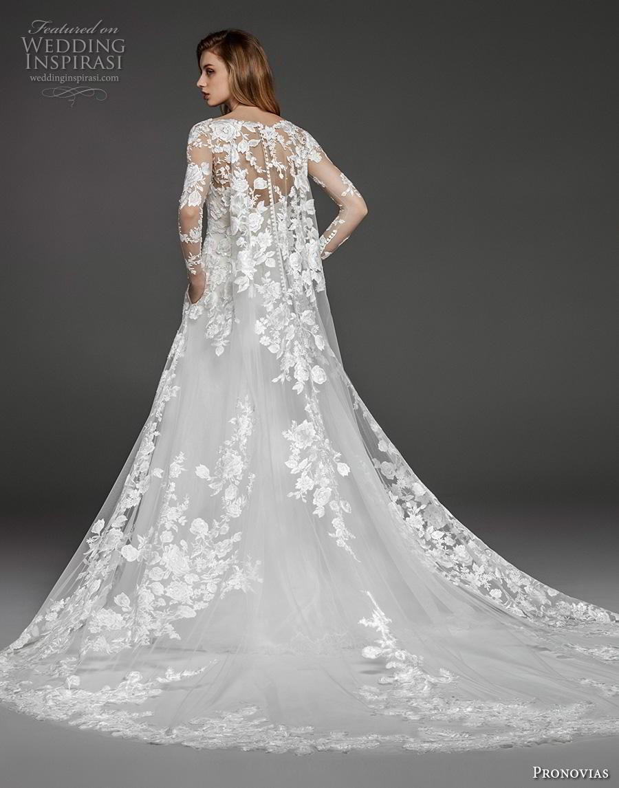 atelier pronovias 2019 bridal long sleeves v neck full embellishment elegant princess a  line wedding dress pockets royal train (18) bv