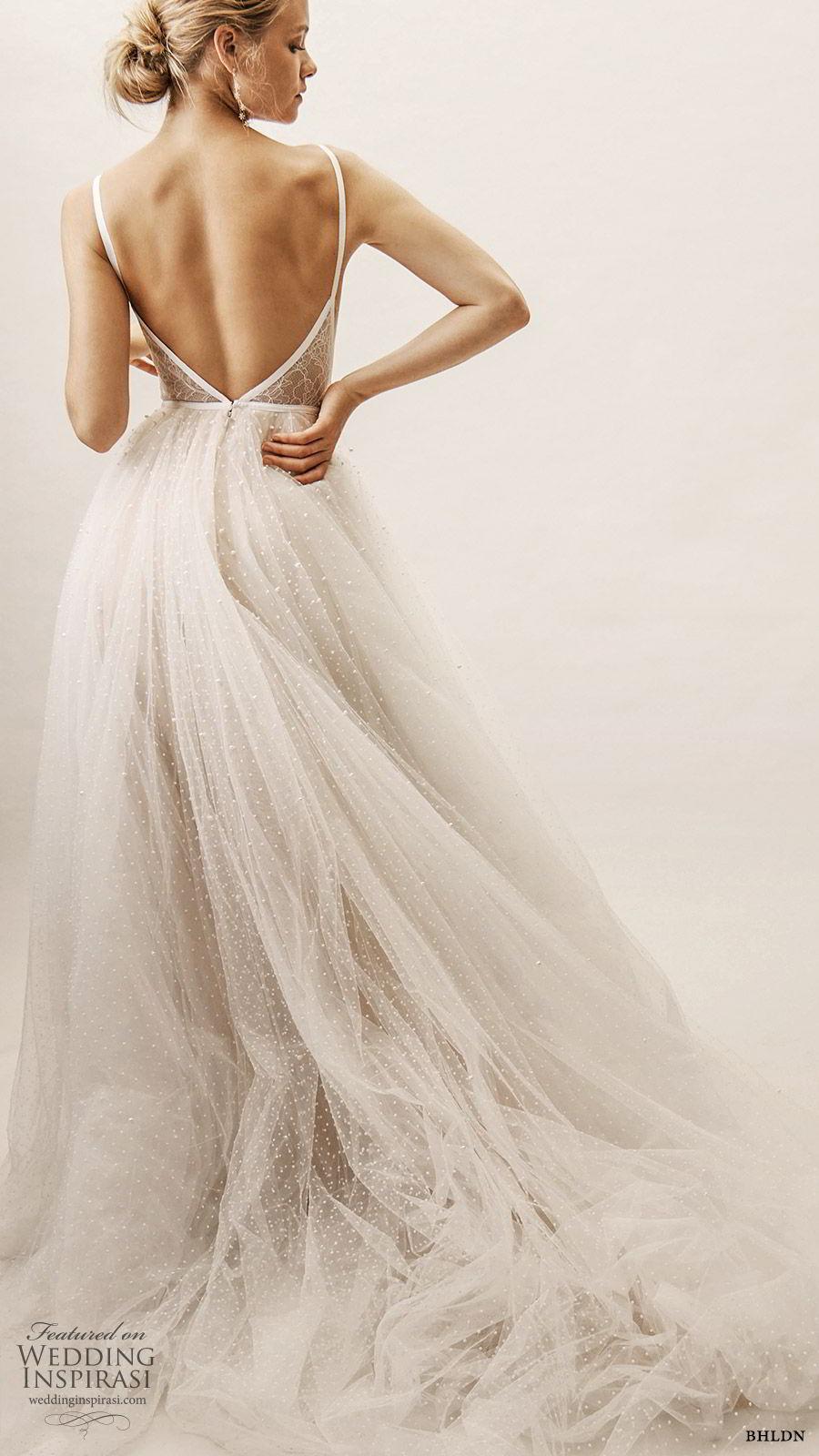 bhldn spring 2019 bridal sleeveless straps deep v neckline embellished bodice a line ball gown wedding dress romantic elegant (1) bv