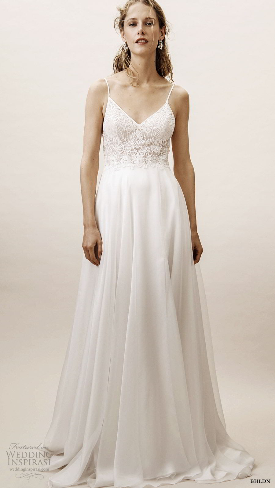 477dbf26633 bhldn spring 2019 bridal sleeveless thin straps sweetheart v neckline  embellished bodice a line wedding dress