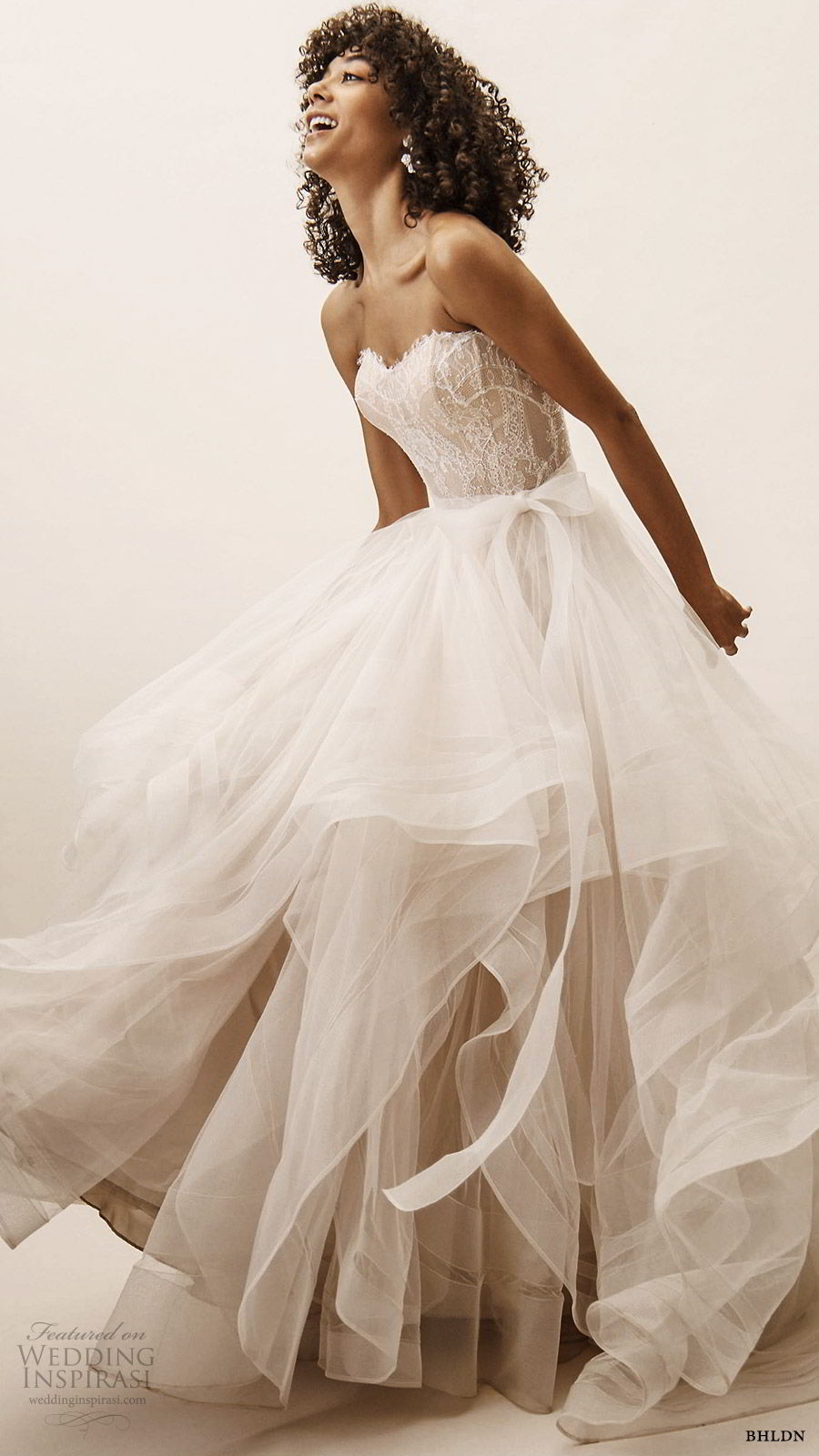 bhldn spring 2019 bridal strapless sweetheart corset lace bodice ball gown wedding dress tiered skirt romantic (5) mv