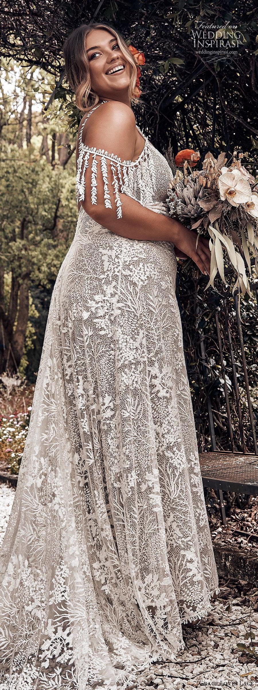 2019 Lace Long Sleeve Vintage A Line Party Dress: Grace Loves Lace 2019 Wedding Dresses