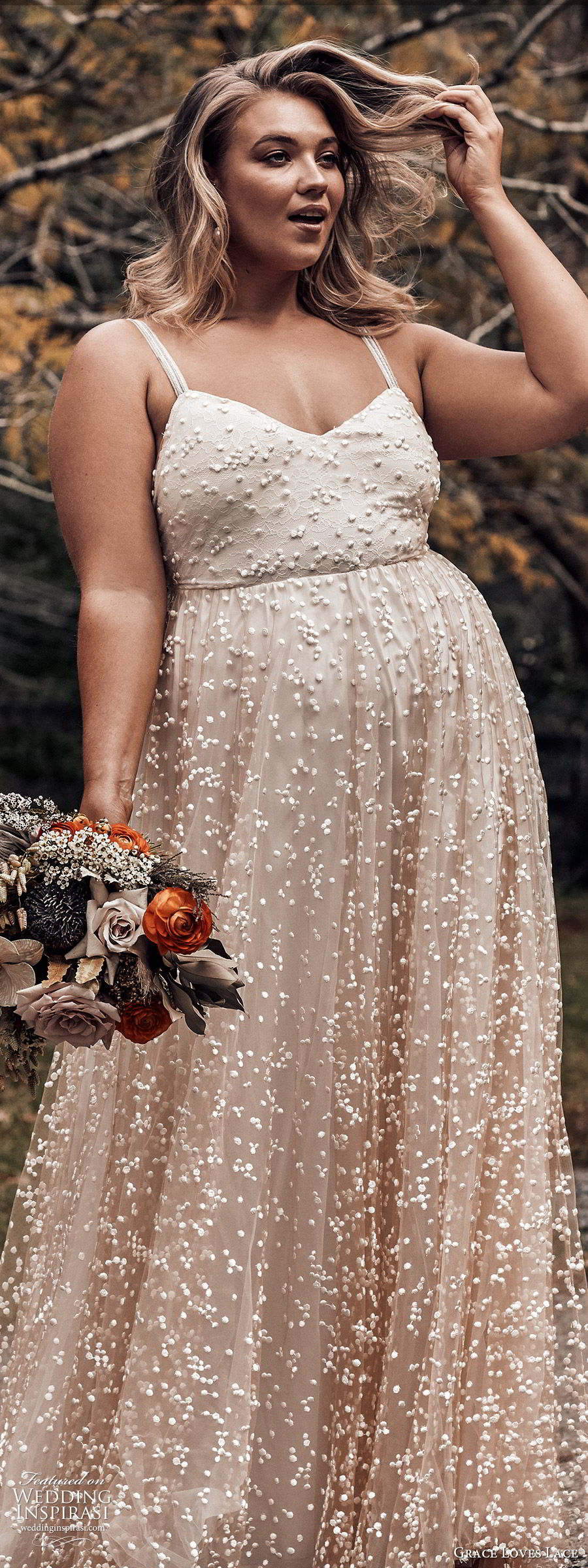 grace loves lace 2019 bridal sleeveless straps sweetheart neckline fully embellished a line ball gown wedding dress romantic elegant plus size blush (5) lv