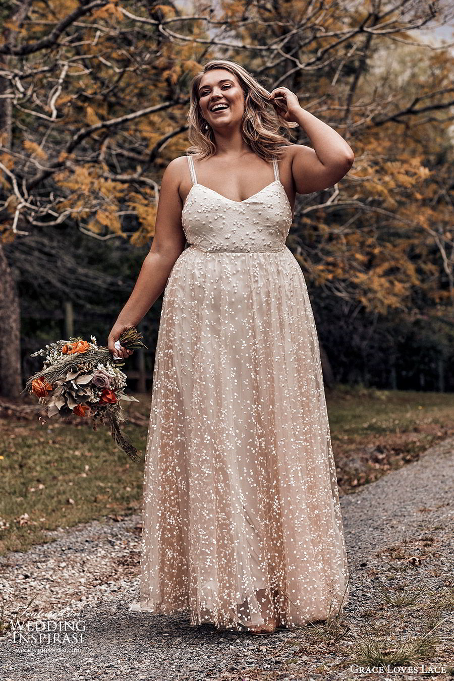 grace loves lace 2019 bridal sleeveless straps sweetheart neckline fully embellished a line ball gown wedding dress romantic elegant plus size blush (5) mv
