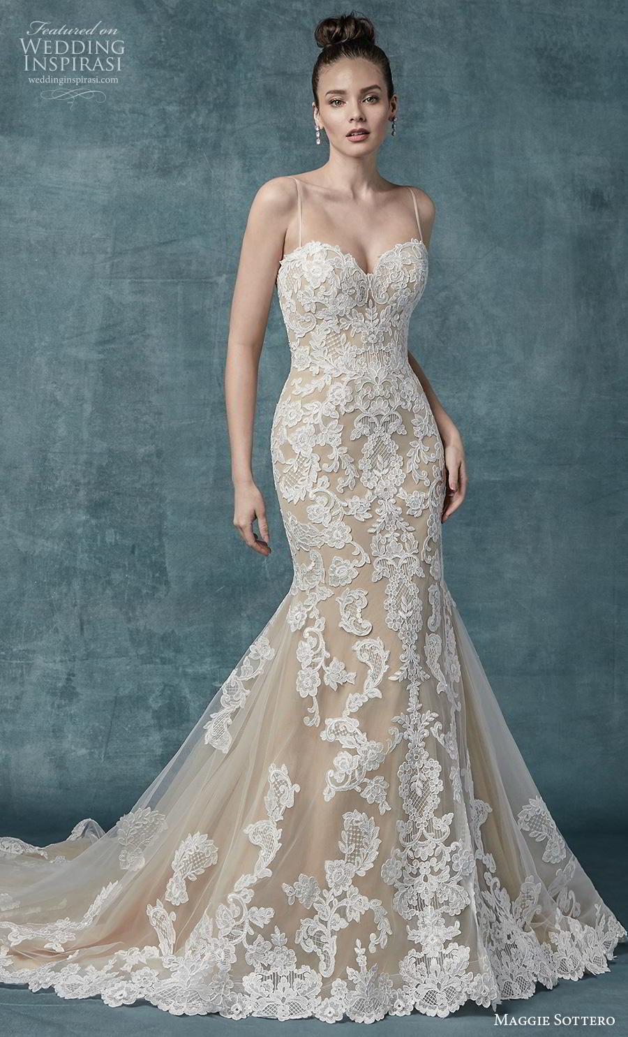 maggie sottero spring 2019 bridal sleeveless spaghetti strap sweetheart neckline full embellishment elegant ivory mermaid wedding dress mid back chapel train (11) mv