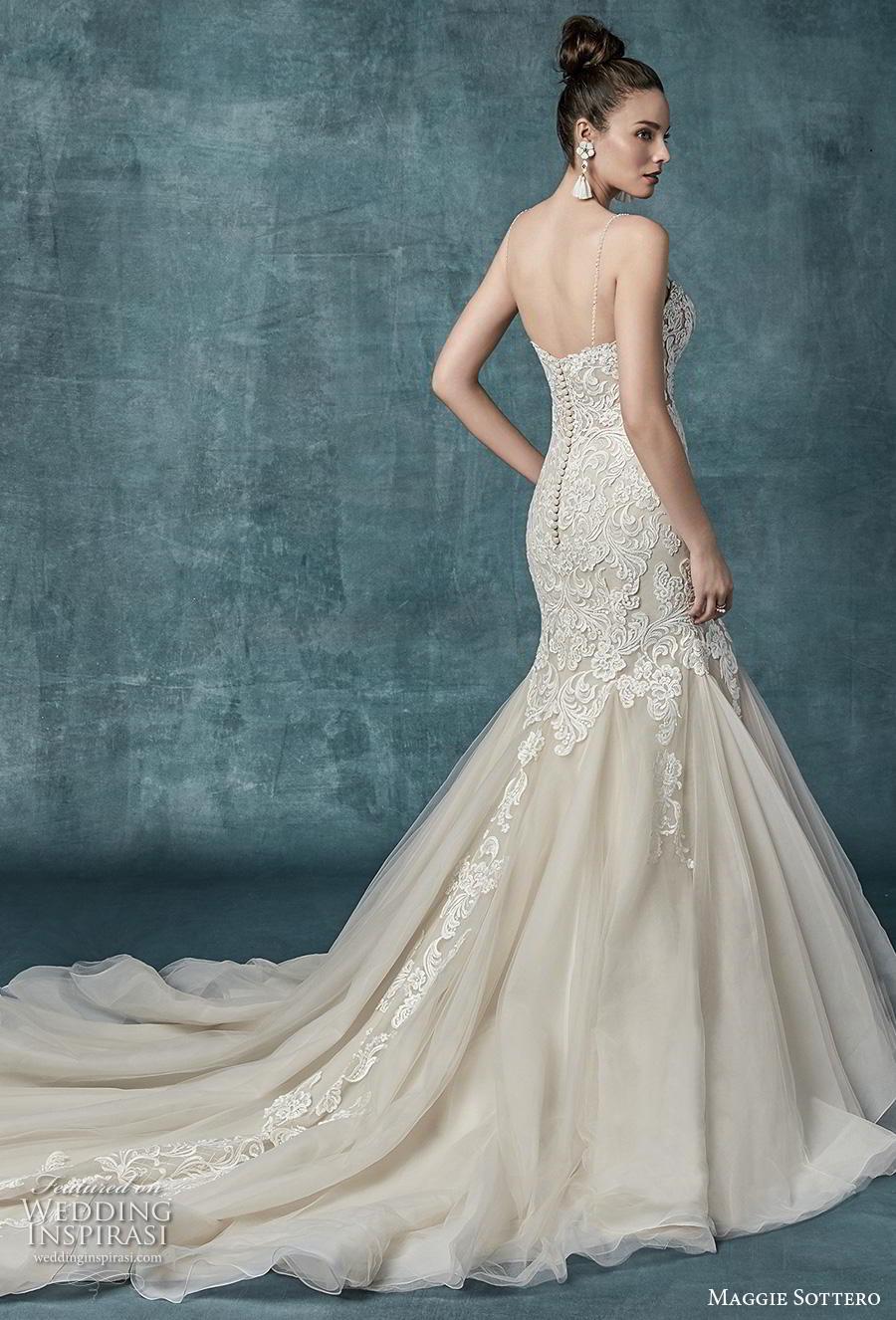 f941d34bf5c maggie sottero spring 2019 bridal sleeveless spaghetti strap sweetheart  neckline heavily embellished bodice elegant mermaid wedding