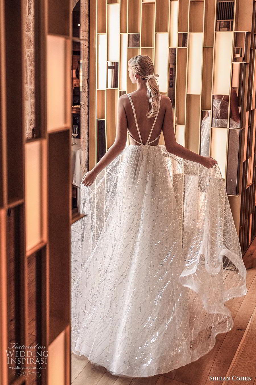 shiran cohen 2019 bridal sleeveless beaded straps fully embellished a line ball gown wedding dress illusion back romantic princess (8) bv