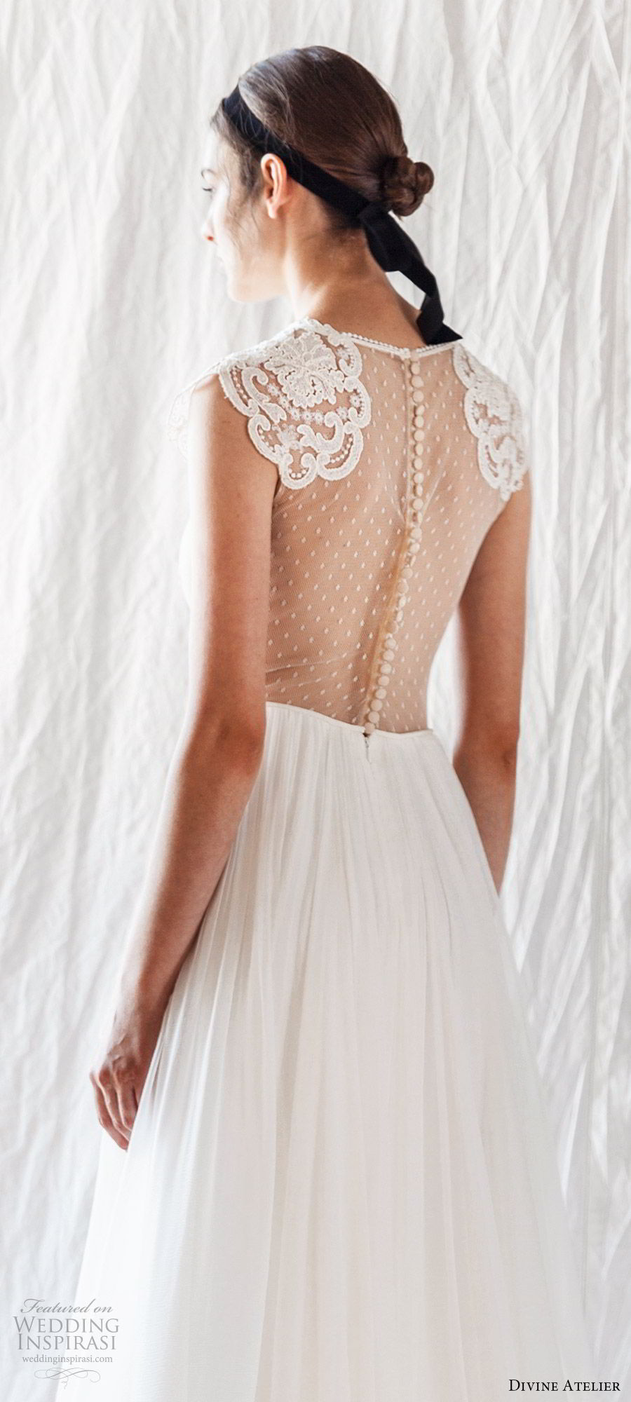 divine atelier 2019 bridal cap sleeves jewel neck lace bodice soft aline wedding dress (10) sheer bodice sweep train boho romantic bv