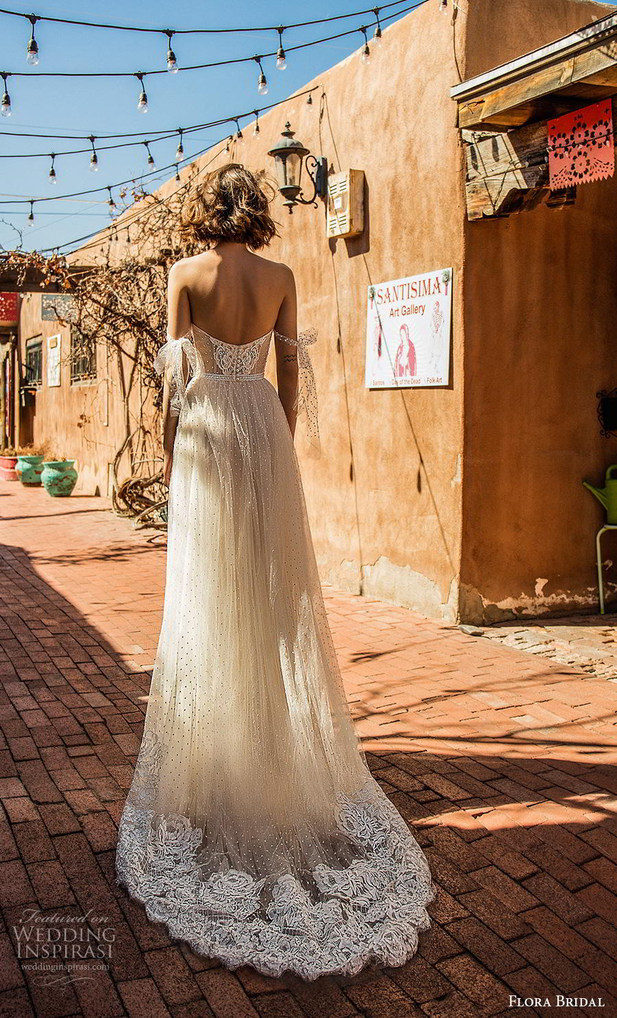 flora bridal 2019 bridal off the shoulder sweetheart neckline heavily embellished bodice romantic soft a  line wedding dress mid back chapel train (9) bv