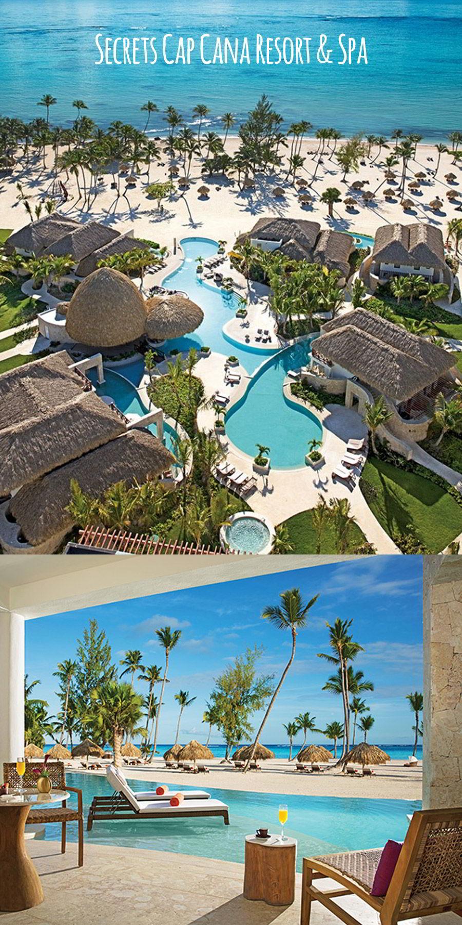 secrets resorts cap cana resort spa dominican republic destination wedding venue luxury honeymoon aerial view bungalow pool
