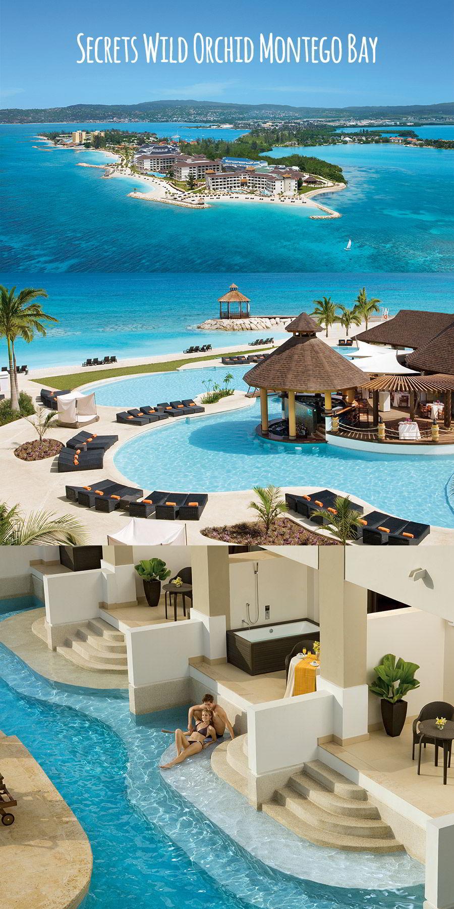 secrets resorts wild orchid montego bay jamaica destination wedding venue honymoon caribbean private island pool swim out suite couple