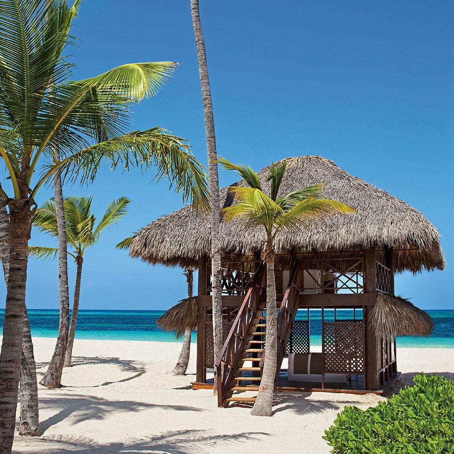 secrets royal beach punta cana dominican republic destination wedding venue honeymoon oceanfront private massage cabin beach seaside barefoot luxury