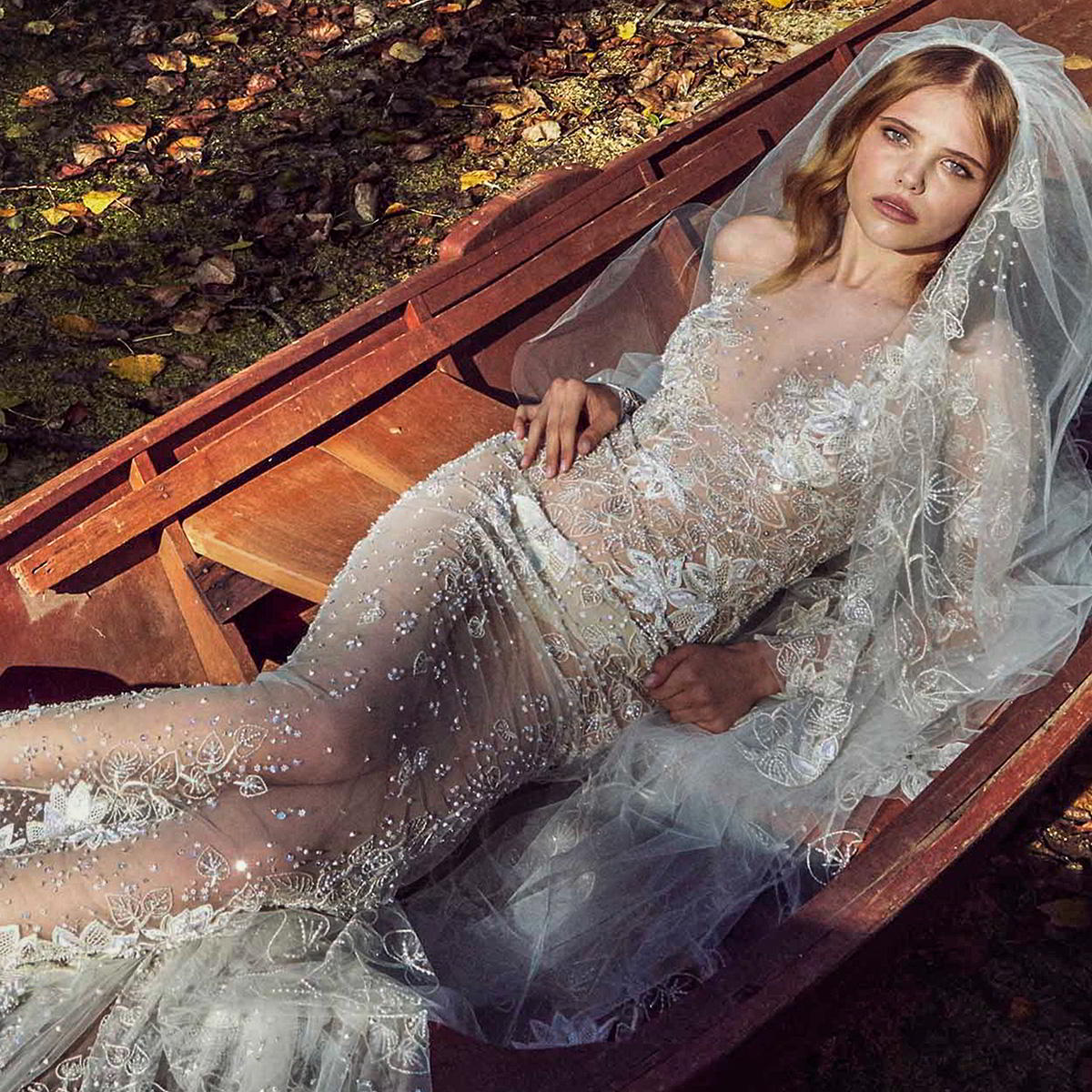 zuhair murad fall 2019 bridal long sleeves off the shoulder illusion v neck full embellishment sheath wedding dress (1) zv