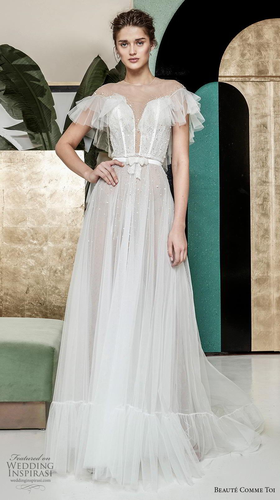 Retro Wedding Dresses.Breathtaking Modern Vintage Wedding Dresses By Beaute