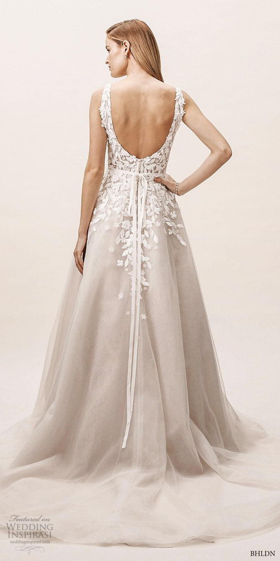 d7430fede03 bhldn spring 2019 bridal sleeveless v neck embellished bodice a line ball gown  wedding dress (