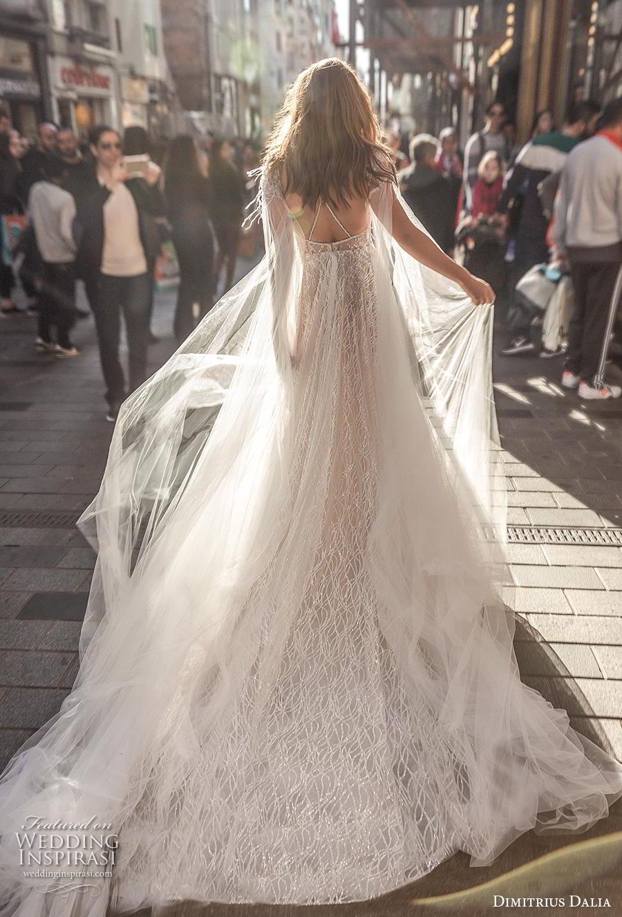 dimitrius dalia 2019 bridal double thin strap deep plunging sweetheart neckline open side romantic sexy a  line wedding dress cross strap back chapel train (8) bv