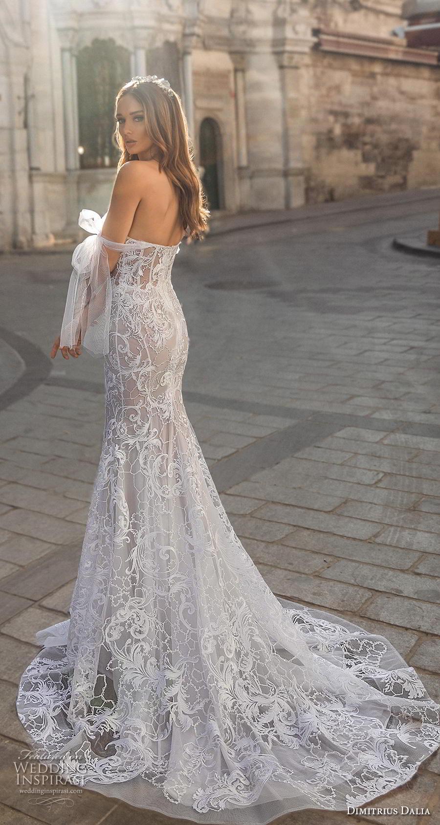dimitrius dalia 2019 bridal off the shoulder sweetheart neckline full embellishment bustier elegant fit and flare wedding dress  mid back medium train (3) bv