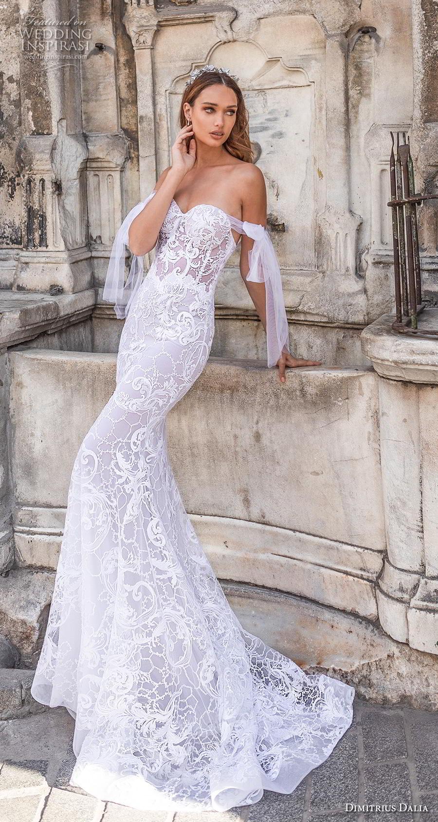 dimitrius dalia 2019 bridal off the shoulder sweetheart neckline full embellishment bustier elegant fit and flare wedding dress  mid back medium train (3) mv